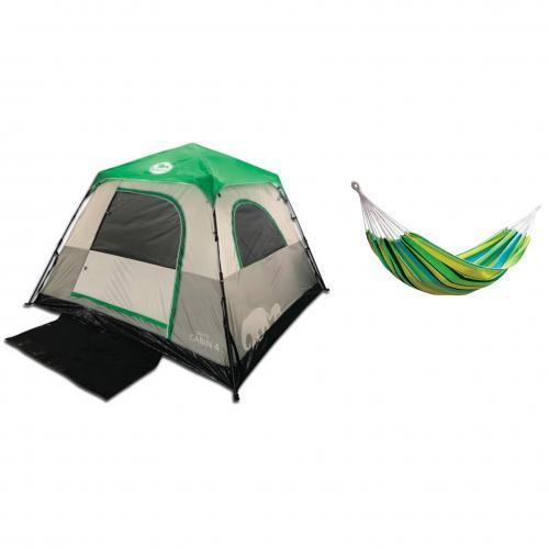 מארז קמפינג אוהל 4 אנשים וערסל GO NATURE