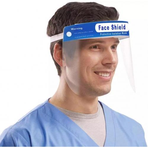 מסיכת PVC שקופה כולל מדבקה