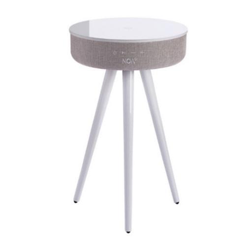 רמקול שולחן טעינה אלחוטית עם גימור זכוכית