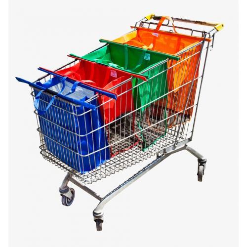 רביעית סלי  קניות רב פעמיים המותאמים לעגלת סופר - מבצע חיסול