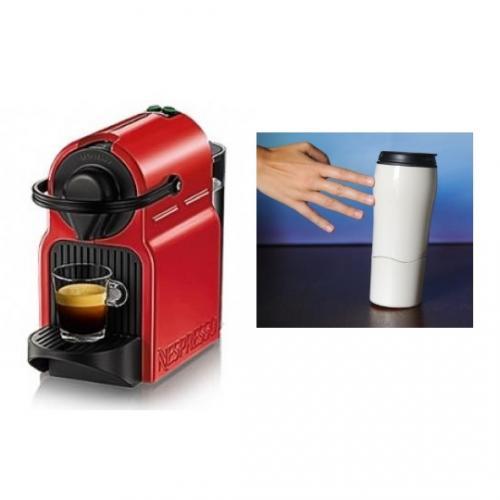 מארז מכונת קפה Nespresso Inissia C40 ללא מקציף וספל טרמי שלא נופל