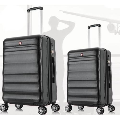 """סט 2 מזוודות """"24 """"28 בעיצוב קלאסי"""