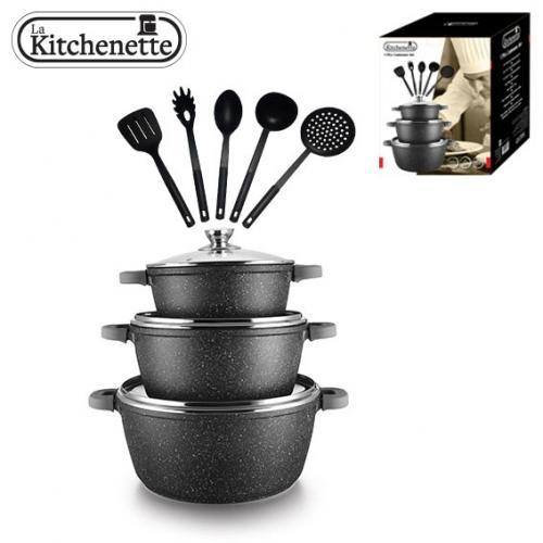 סט סופר שימושי למטבח! 17 חלקים סירים וכלים La kitchenette