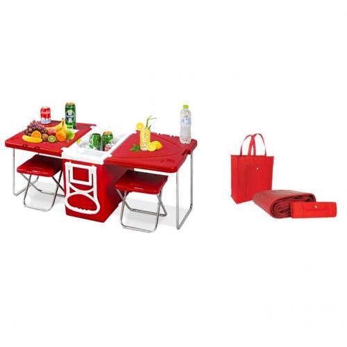 מארז פיקניק שולחן קומפקטי ומחצלת משפחתית
