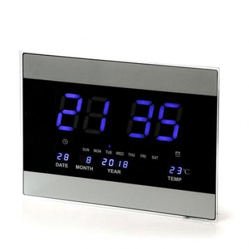 שעון קיר חשמלי כחול