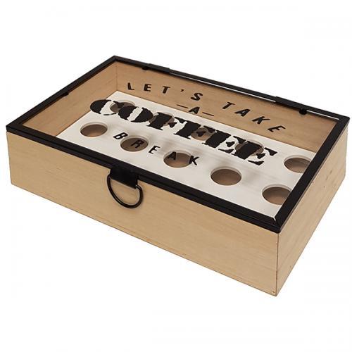 קופסת עץ ל-15 קפסולות קפה
