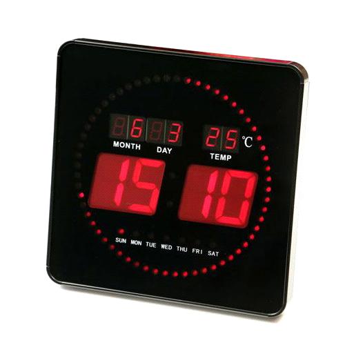 שעון קיר חשמלי אדום מעוצב