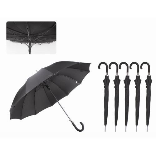 """מטריה """"27 זרועות סיליקון ומנגנון WIND PROOF התהפכות ברוח"""