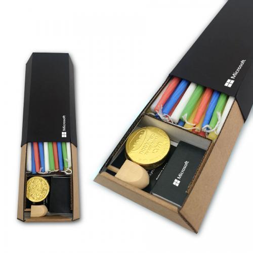 קופסת נרות בצורת טרפז - במיוחד לחנוכה!