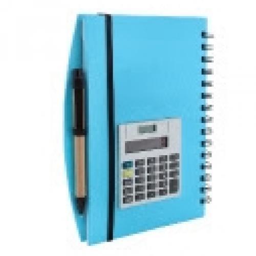 מחברת ספירלה כולל מחשבון ועט