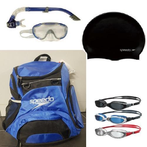 ערכת תיק ספורט, משקפת וכובע שחיה, שנורקל ומסיכה מבית ספידו