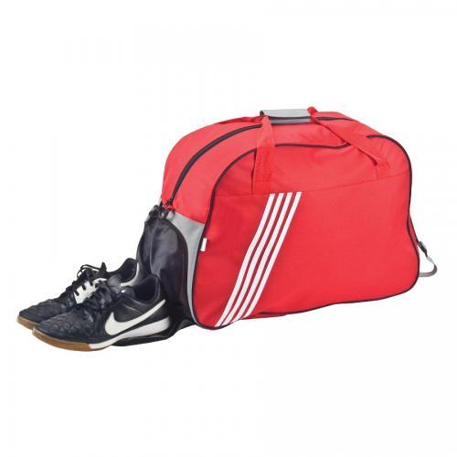 תיק ספורט ענק עם תא נעליים אדום