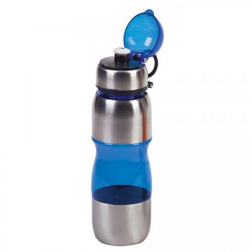 """בקבוק gym משולב נירוסטה 650 מ""""ל כחול"""