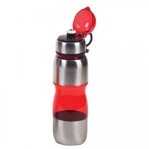 """בקבוק gym משולב נירוסטה 650 מ""""ל אדום"""
