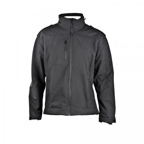 מעיל SOFT SHELL פרווה שחור מידות S-XL