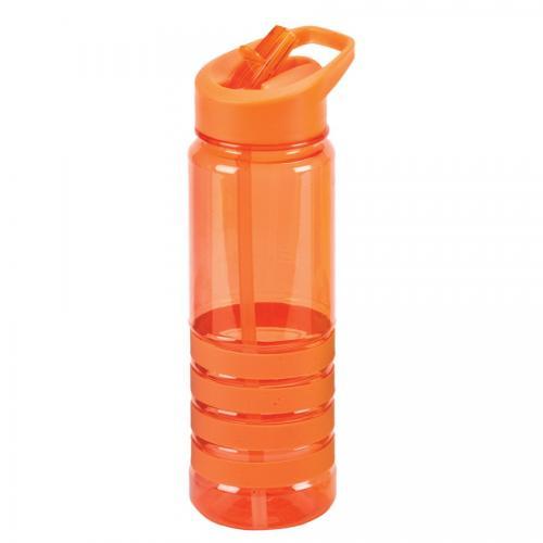 """בקבוק ספורט אלסטיק 650 מ""""ל כתום"""
