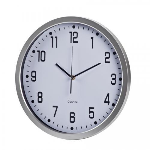 """שעון קיר עגול קוטר 42 ס""""מ לבן"""