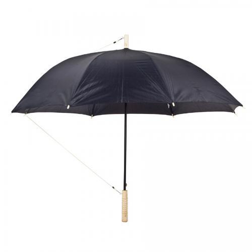 """מטרייה 23"""" ידית עץ שחור"""