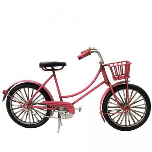 אופניים ורודות רטרו לעיצוב הבית