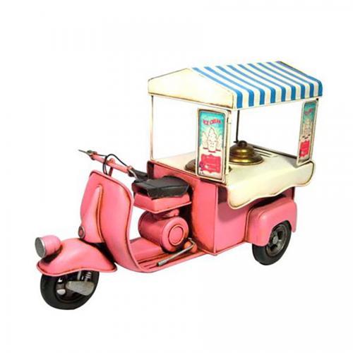 אופנוע גלידה- מוצר רטרו דקורטיבי לבית