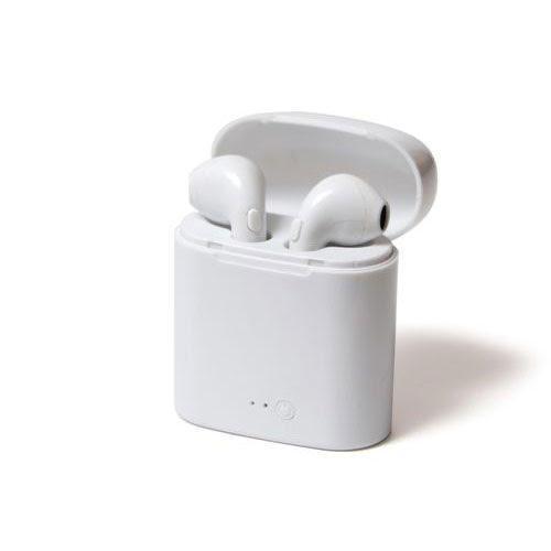 אוזניות BLUETOOTH בצבע לבן