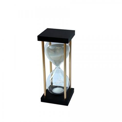 שעון חול משולב עץ ומתכת