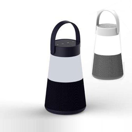 רמקול מעוצב משולב בד עם מנורת LED בעוצמות משתנות