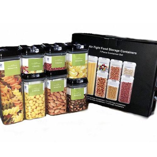 מארז 7 קופסאות במידות שונות לאחסון מזון באריזת מתנה