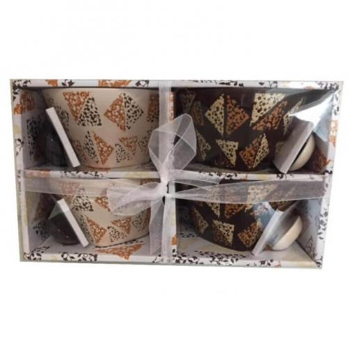 סט 4 קעריות למרק וקורנפלקס בקופסת מתנה