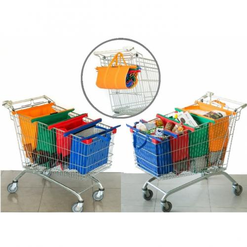 מג'יק שופינג בג - סט 4 תיקי קניות לסופר כולל תיק צידנית