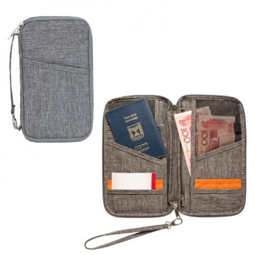 ארנק לדרכון ומסמכים מבד קורדורה מהודר