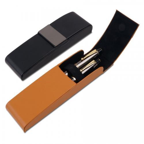 """""""סלטיקס"""" קופסת דמוי עור מפוארת לזוג עטים או יחיד"""