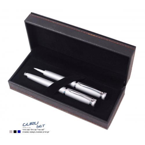 עט כדורי ועט רולר בקופסה מפוארת