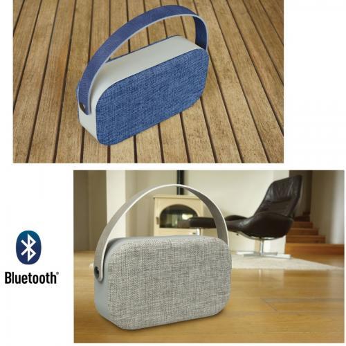רמקול Bluetooth עוצמתי עם ידית וציפוי אריג