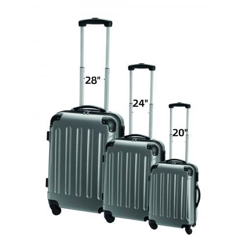סט מזוודות קשיחות ואיכותיות