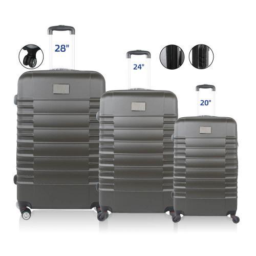 סט 3 מזוודות קשיחות מתקדמות עם הרחבה של 20%