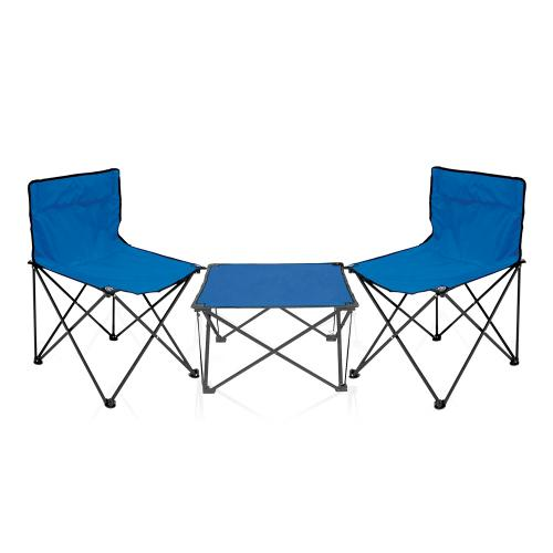 סט הכולל זוג כסאות ושולחן מתקפלים בתיק נשיאה