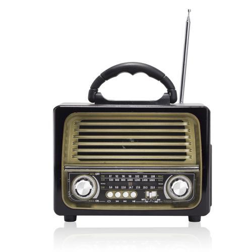 רדיו ורמקול שולחני בעיצוב רטרו בלוטות'