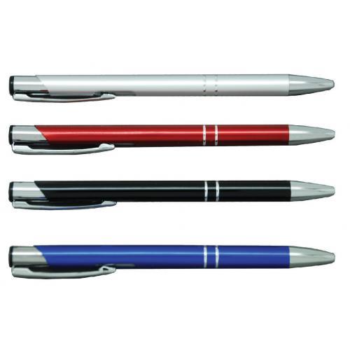 עט לחצן מתכת