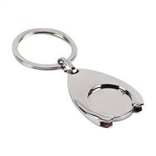 מחזיק מפתחות ממתכת,  מטבע לשחרור עגלות