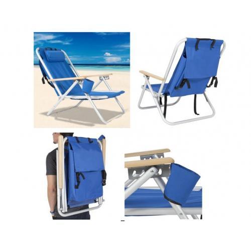 כסא חוף וגן המתקפל לתיק