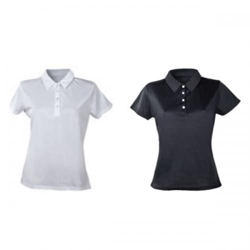 חולצת פולו נשים מבד דריפיט מנדף זיעה