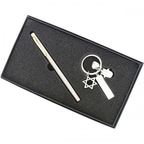 מארז מתנה מחזיק מפ` חמסה, לב, מגן דוד + מקום לעט