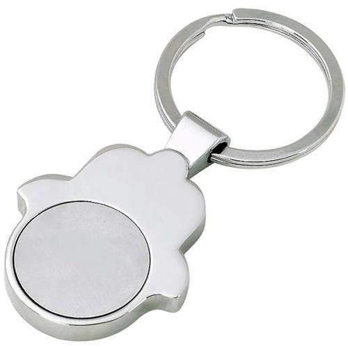 מחזיק מפתחות חמסה עם מטבע נשלף