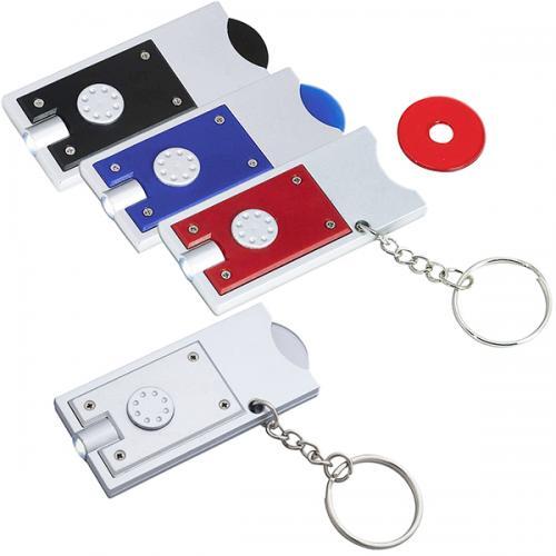 מחזיק מפתחות עגליון עם תאורת לד