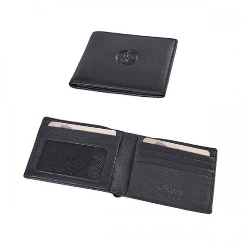 ארנק כרטיסי ביקור עור נפה שחור גבעוני GV-2467