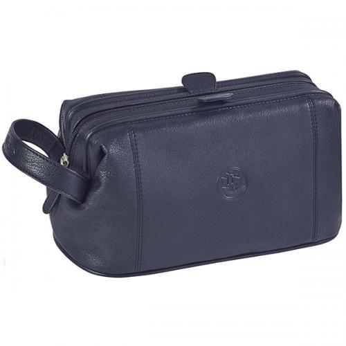 תיק כלי רחצה עור שחור גבעוני GV-2468