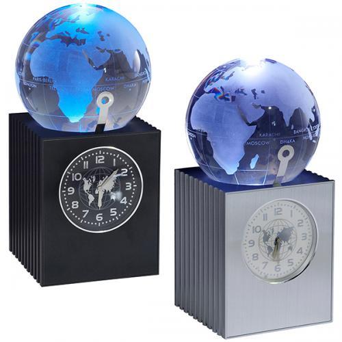 """""""קוסמוס"""" שעון עולם דינאמי עם גלובוס זכוכית מאיר"""