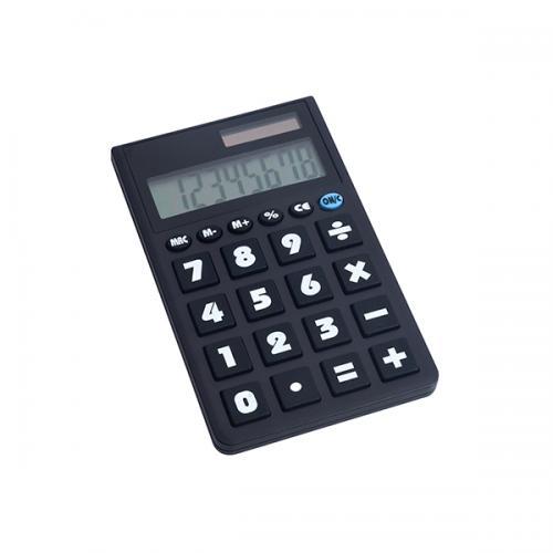 """מחשבון """"פוקט"""" מחשב שחור קטן 12 ספרות"""