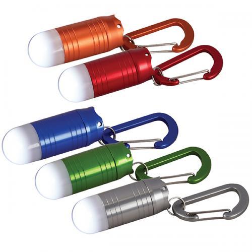 פנס אלומניום מחזיק מפתחות תאורת לד בלון חזקה לבנה במיוחד